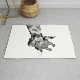 Black and white giraffe Rug
