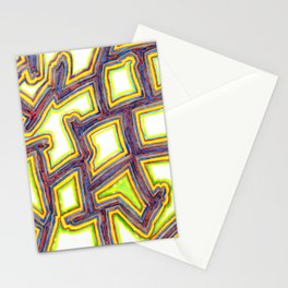 Outlined Fancy White Shapes Pattern Stationery Cards