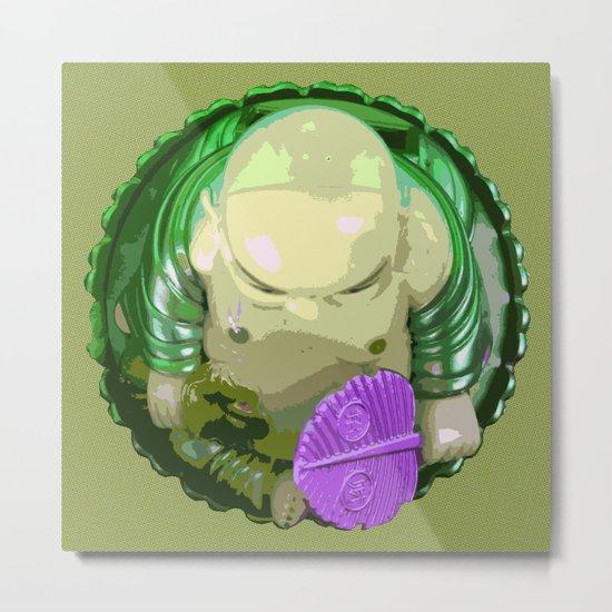 buddha [green] Metal Print