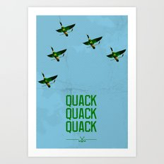 Mighty Ducks Art Print