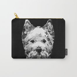 Black And White West Highland Terrier Dog Art Sharon Cummings Carry-All Pouch