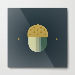 october midnight acorn Metal Print