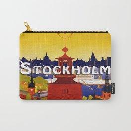 Vintage Stockholm Sweden Travel Carry-All Pouch