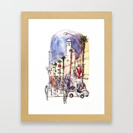 Third Street Promenade, Santa Monica California Framed Art Print