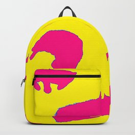 Sleeping cats pink on yellow Backpack
