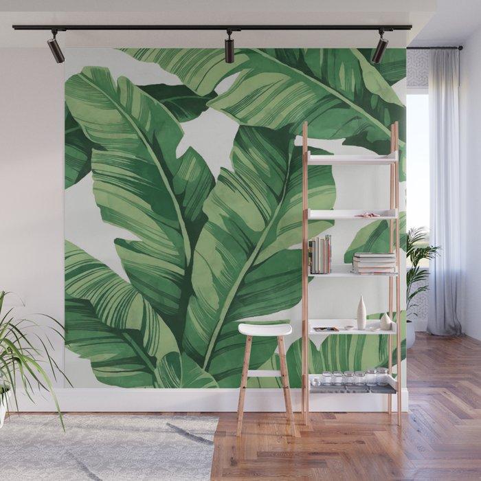 Tropical banana leaves Wall Mural