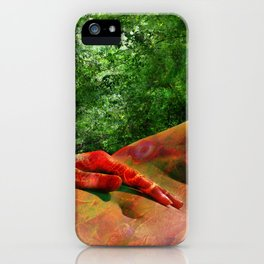 Leda Waiting for the Swan - Left Leg iPhone Case