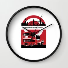 Greetings from London Wall Clock