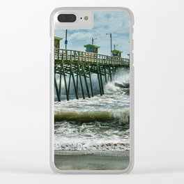 Surge Under The Pier Clear iPhone Case