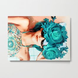 Lovers and flowers Metal Print