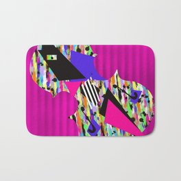 Cello Abstraction on Hot Pink Bath Mat