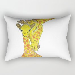 Embossed Mother & Baby Giraffe Rectangular Pillow