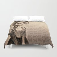 catwoman Duvet Covers featuring Catwoman by Anna Kavehmehr