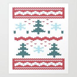 Ugly Christmas Art Print