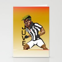 juventus Stationery Cards featuring MusclePogba by Miguel Angel Illustrations