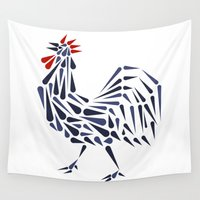 france Wall Tapestries featuring France Crest by George Williams