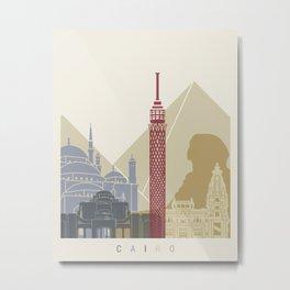 Cairo skyline poster Metal Print