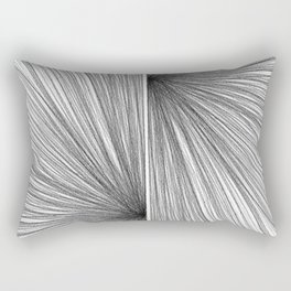 Mid Century Modern Geometric Abstract Radiating Lines Rectangular Pillow