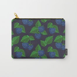 Blackberry on dark blue background Carry-All Pouch