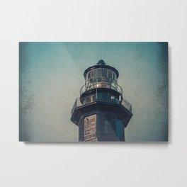 New Cape Henry Lantern Room Chesapeake Bay Virginia East Coast Lighthouse Metal Print