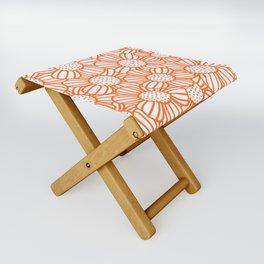 Field of daisies - orange Folding Stool