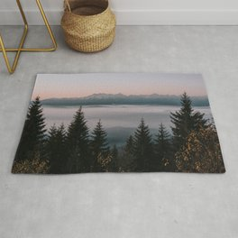 Faraway Mountains - Landscape and Nature Photography Rug