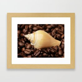 Coffee bean snail Framed Art Print