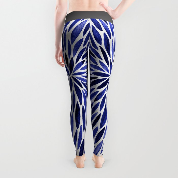 Navy Burst Leggings