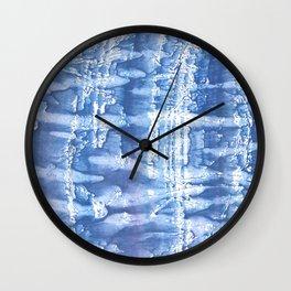 Steel blue blurred aquarelle Wall Clock