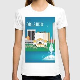 Orlando, Florida - Skyline Illustration by Loose Petals T-shirt