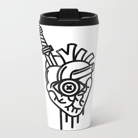 WOUNDED LOVER Metal Travel Mug