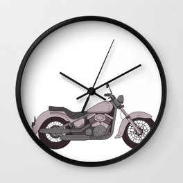 Just a Girl who likes Motorcycles Wall Clock