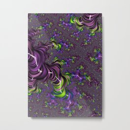 Acid Trip Fractal Metal Print