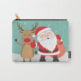 Noel and Deer Enjoying the Christmas Carry-All Pouch