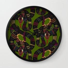 geo snakes Wall Clock