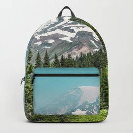 Mount Rainier Turquoise Adventure -  Mountain Forest Wanderlust Backpack