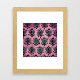 Pink Lotus Damask Framed Art Print