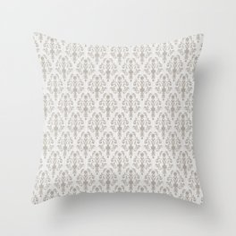 Soft Baroque Lace Gray Throw Pillow
