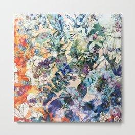 Vintage Wild Spring Botanical Floral Bloom Metal Print