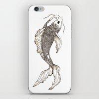 koi fish iPhone & iPod Skins featuring Koi Fish  by nikart