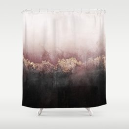 Black Pink Shower Curtains