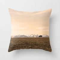 montana Throw Pillows featuring Montana Landscapes by Owl's Iris Photography