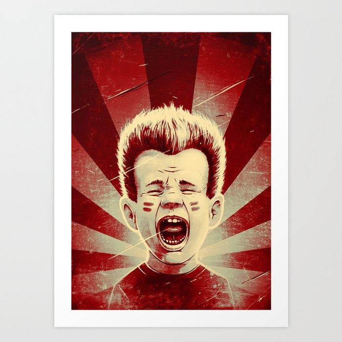 Red Noise Art Print