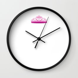 I'm a Tennis Princess and This is My Court Wall Clock