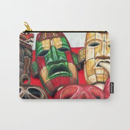 Mayan Masks Carry-All Pouch