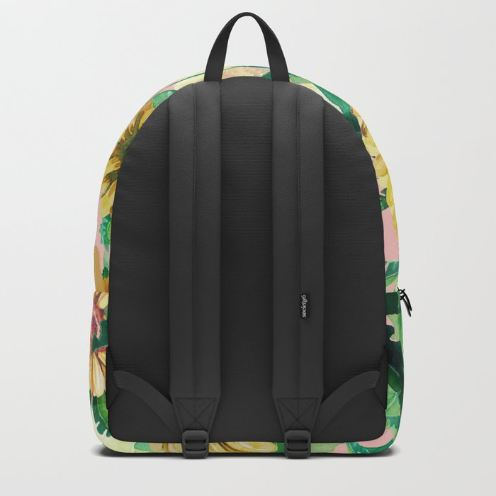 sunflowers in pink Backpack