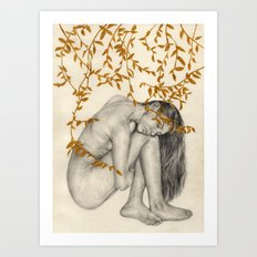 The Fragility Of Being Human Art Print