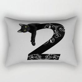 Black cat No.2 Rectangular Pillow
