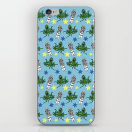 Aliens & Astronauts pattern iPhone Skin
