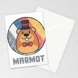 Vintage Cute Wildlife Marmot Colorful Retro Animals Stationery Cards